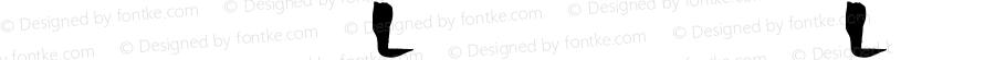 书法-英语字体L 书法-英语字体L 书法-英语字体L