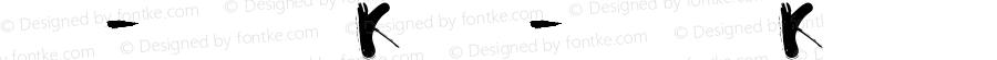 书法-英语字体K 书法-英语字体K 书法-英语字体K