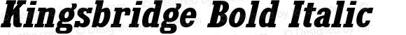 Kingsbridge Bold Italic