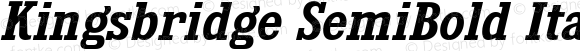 Kingsbridge SemiBold Italic