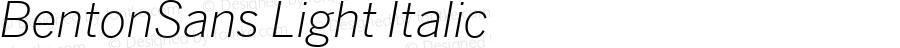 BentonSans Light Italic