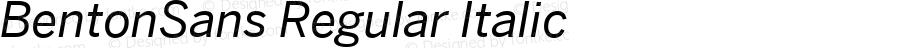 BentonSans Regular Italic