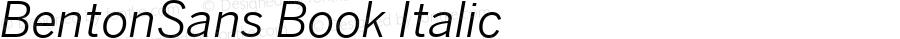 BentonSans Book Italic