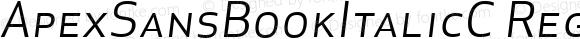 ApexSansBookItalicC Regular 003.000