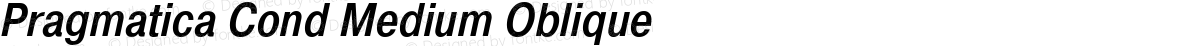 Pragmatica Cond Medium Oblique