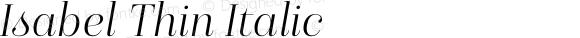 Isabel Thin Italic