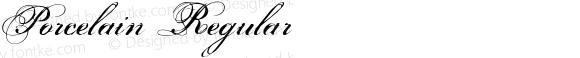 Porcelain Regular Macromedia Fontographer 4.1.2 8/17/02