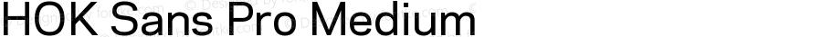 HOK Sans Pro Medium Version 1.000