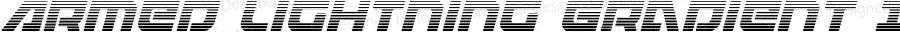 Armed Lightning Gradient Italic Italic Version 1.0; 2017