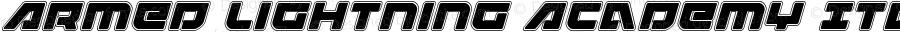 Armed Lightning Academy Italic Italic Version 1.0; 2017