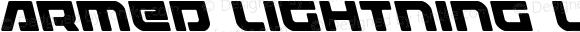 Armed Lightning Leftalic Italic Version 1.0; 2017