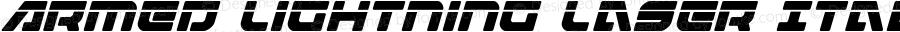 Armed Lightning Laser Italic Italic Version 1.0; 2017