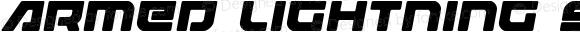 Armed Lightning Semi-Italic Semi-Italic Version 1.0; 2017