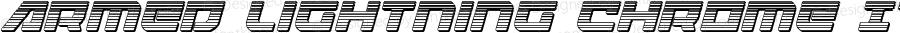 Armed Lightning Chrome Italic Italic Version 1.0; 2017