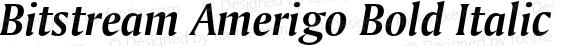 Bitstream Amerigo Bold Italic 2.0-1.0