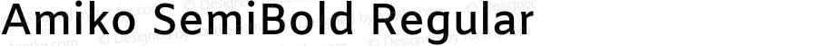 Amiko SemiBold Regular Version 1.000; ttfautohint (v1.3)