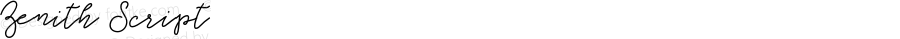 Zenith Script Version 1.000;PS 001.000;hotconv 1.0.88;makeotf.lib2.5.64775