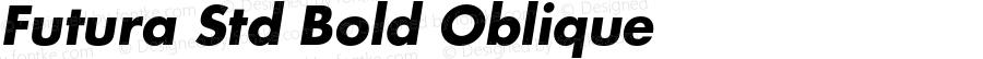 Futura Std Bold Oblique Version 2.070;PS 002.000;hotconv 1.0.67;makeotf.lib2.5.33168