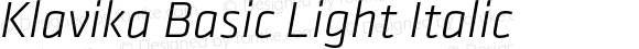 Klavika Basic Light Italic