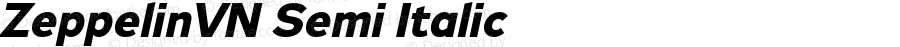 ZeppelinVN Semi Italic Version 0.000