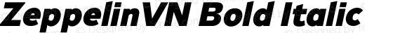 ZeppelinVN Bold Italic Version 0.000