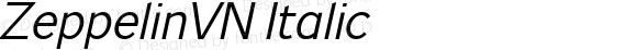 ZeppelinVN Italic Version 0.000
