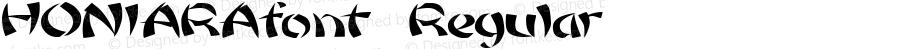 HONIARAfont Regular Altsys Fontographer 3.5  4/3/01