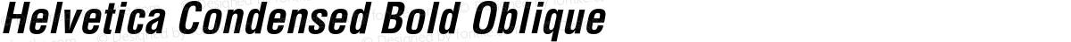 Helvetica Condensed Bold Oblique