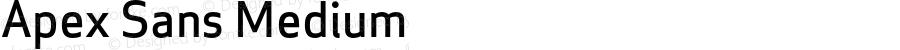 Apex Sans Medium Version 6.000 2007 revised OpenType release
