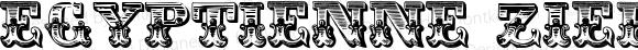 Egyptienne Zierinitialien Regular Version 1.0; 2002; initial release