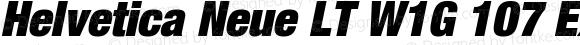 Helvetica Neue LT W1G 107 Extra Black Condensed Oblique