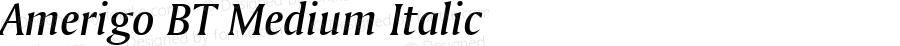 Amerigo BT Medium Italic spoyal2tt v1.34