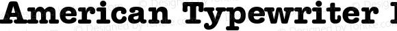 American Typewriter BT Bold spoyal2tt v1.25