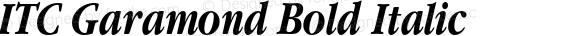 ITC Garamond Bold Italic 001.001