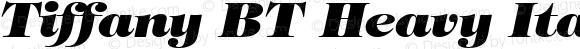 Tiffany BT Heavy Italic spoyal2tt v1.25