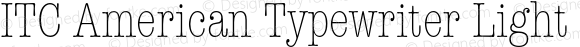 ITC American Typewriter Light C Regular 001.000