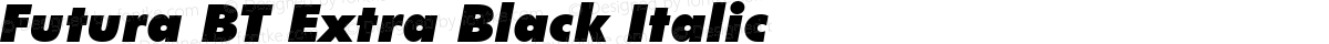 Futura BT Extra Black Italic