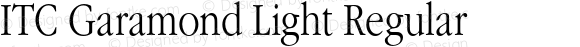 ITC Garamond Light Regular 001.001