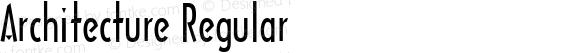 Architecture Regular Macromedia Fontographer 4.1 6/6/96