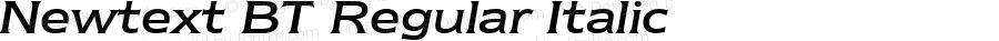 Newtext BT Regular Italic spoyal2tt v1.34