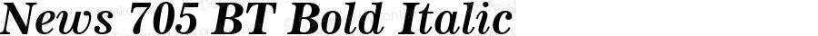 News 705 BT Bold Italic spoyal2tt v1.34