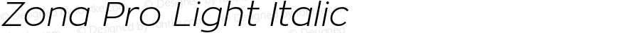 Zona Pro Light Italic Version 1.005
