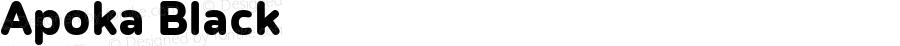 Apoka Black Version 1.001; ttfautohint (v1.5)