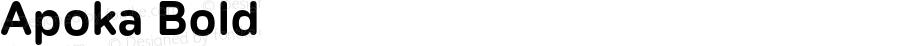 Apoka Bold Version 1.001;PS 001.001;hotconv 1.0.88;makeotf.lib2.5.64775