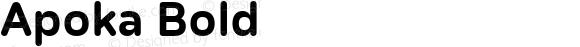 Apoka Bold Version 1.001; ttfautohint (v1.5)