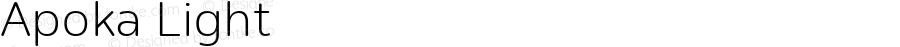 Apoka Light Version 1.001; ttfautohint (v1.5)