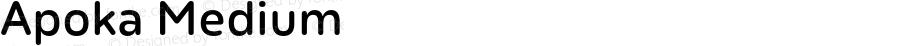 Apoka Medium Version 1.001;PS 001.001;hotconv 1.0.88;makeotf.lib2.5.64775