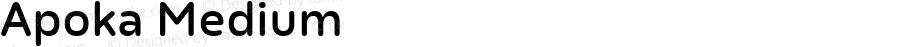 Apoka Medium Version 1.001; ttfautohint (v1.5)