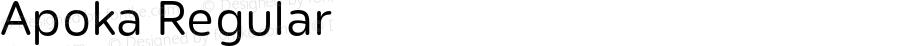 Apoka Regular Version 1.001;PS 001.001;hotconv 1.0.88;makeotf.lib2.5.64775