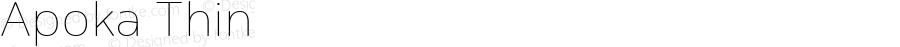 Apoka Thin Version 1.001; ttfautohint (v1.5)